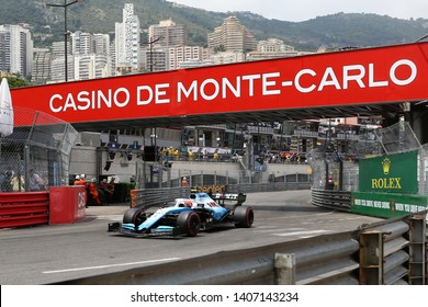 Monte Carlo, Monaco - 25th May , 2019. Robert Kubica of ROKiT Williams Racing on track during practice for  the F1 Grand Prix of Monaco