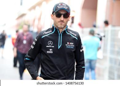 Monte Carlo, Monaco - 26th May , 2019. Robert Kubica of ROKiT Williams Racing in the paddock during the F1 Grand Prix of Monaco