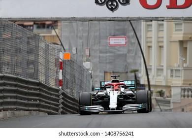 Monte Carlo, Monaco - 26th May , 2019. Lewis Hamilton of Mercedes AMG Petronas Motorsport on track during  the F1 Grand Prix of Monaco