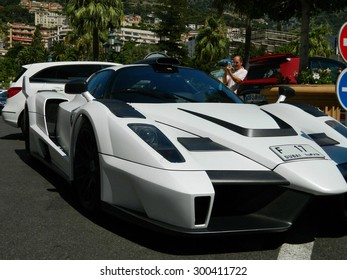 """MONTE CARLO, MONACO - 27 JULY 2015 - The exotic and unique car , Gemballa MIG-U1 is based on the Ferrari Enzo, for Mustafa and Ilyas Galadari, initials form the Name """"MIG"""" 27 July 2015 in Monte Carlo."""