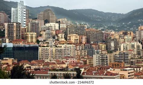 MONTE CARLO, MONACO - APRIL 28: Architecture of residential buildings on April 28, 2013 in Monte Carlo, Monaco. All residential buildings in Monaco is very expensive and fashionable.
