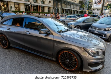 MONTE CARLO,  MONACO - AUG 13, 2017: Mercedes car in Monte Carlo, a place with lots of new high class automobiles