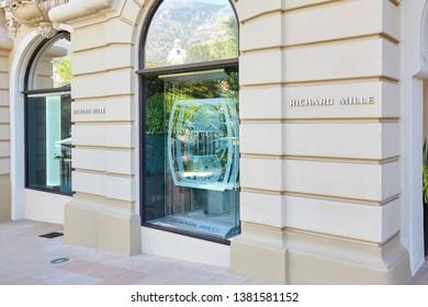 MONTE CARLO, MONACO - AUGUST 21, 2016: Richard Mille luxury watch store in Monte Carlo, Monaco.