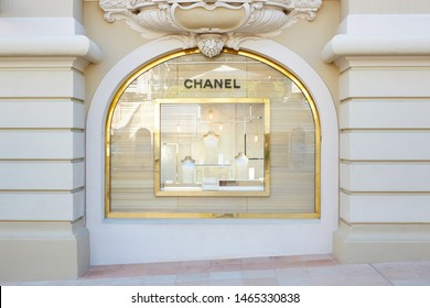 MONTE CARLO, MONACO - AUGUST 21, 2016: Chanel fashion and jewelry luxury store window in Monte Carlo, Monaco.