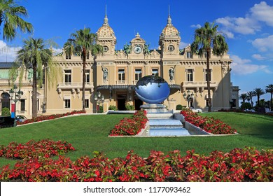 """MONTE CARLO, MONACO - JULY 05, 2018: Officially named """"Casino de Monte-Carlo"""", the Monte Carlo Casino is a gambling and entertainment complex located in Monaco."""