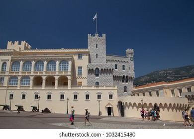 Monte Carlo, Monaco - July 10, 2016: In front of Prince's Palace