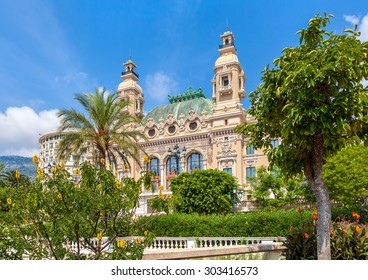 MONTE CARLO, MONACO - JULY 13, 2013: Salle Garnier - gambling and entertainment complex designed by architect Charles Garnier, opened in 1879, includes famous Casino and opera house.