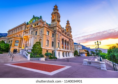 Monte Carlo, Monaco - July 2018 - The Monte Carlo Casino, gambling and entertainment complex in Monte Carlo, Monaco, Cote de Azur, Europe.