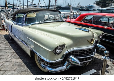 MONTE CARLO, MONACO - June 28 2017: CADILLAC 62 ELDORADO 1955 The Cadillac Eldorado is a personal luxury car that was manufactured and marketed by Cadillac from 1952 to 2002 over ten generations.