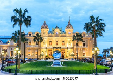 MONTE CARLO, MONACO - March 12: People gathering in front of the world famous Casino of Monte Carlo. Monte Carlo, Monaco on March 12, 2016