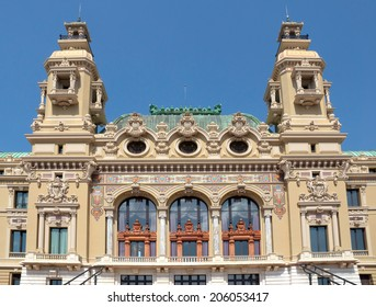 MONTE CARLO, MONACO - MAY 1: Front of the Grand Casino on May 1, 2013 in Monte Carlo, Monaco. The Casino is one of the most notable buildings in Principality.
