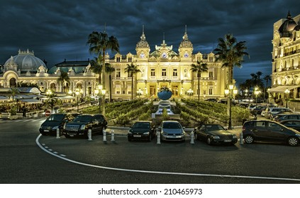 MONTE CARLO, MONACO - OCTOBER 13, 2013: Facade of Salle Garnie - opened in 1879 gambling and entertainment complex designed by architect Charles Garnier includes Casino and Opera house.