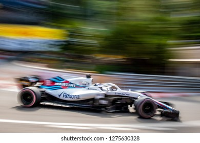 Monte Carlo/Monaco - 05/24/2018 - #18 Lance Stroll (CAN) in his Williams FW41 at Fairmont hairpin during the opening day of running ahead of the 2018 Monaco Grand Prix