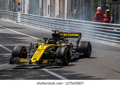 Monte Carlo/Monaco - 05/24/2018 - #27 Nico Hulkenberg (GER) in his Renault R.S. 18 during the opening day of running ahead of the 2018 Monaco Grand Prix