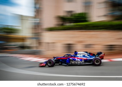 Monte Carlo/Monaco - 05/24/2018 - #28 Brendon Hartley (NZL) in his Toro Rosso Honda STR13 during the opening day of running ahead of the 2018 Monaco Grand Prix