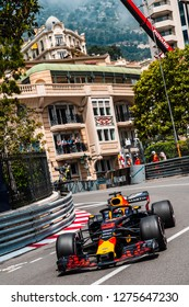 Monte Carlo/Monaco - 05/24/2018 - #3 Daniel Ricciardo (AUS) in his Red Bull Racing RB14 during the opening day of practice ahead of the 2018 Monaco Grand Prix