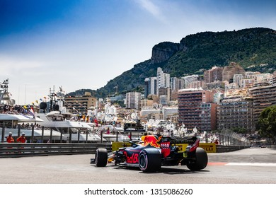 Monte Carlo/Monaco - 05/26/2018 - #3 Daniel RICCIARDO (AUS) in his Red Bull Racing RB14 during qualifying for the 2018 Monaco Grand Prix