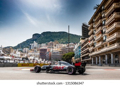 Monte Carlo/Monaco - 05/26/2018 - #8 Romain GROSJEAN (FRA) in his HAAS RVF-18 during qualifying for the 2018 Monaco Grand Prix