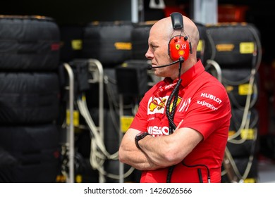 Monte Carlo/Monaco - 25/05/2019 - Jock Clear (performance engineer and driver coach for Charles Leclerc) in the pitlane before the start of FP3