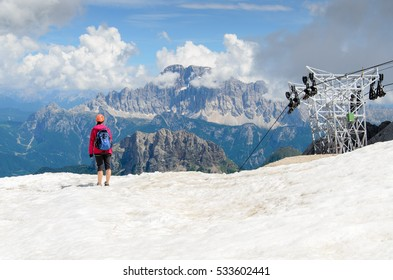 Monte Civetta from Marmolada, Dolomites, Italy.