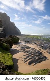 Monte Clerigo beach, Costa Vicentina, National park, PNSACV, Alentejana, Portugal