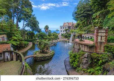 Monte Palace Tropican Garden. Funchal, Madeira island, Portugal.