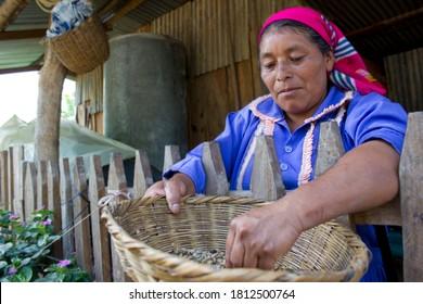Monte Panina, Intibucá/Honduras.  July 6 2017. Indigenous lenca woman smiling