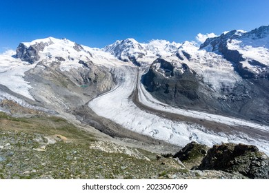 Monte Rosa Group and Grenz Glacier