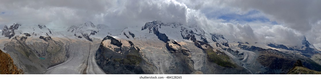 Monte Rosa and Matterhorn summer colors