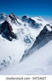 Monte Rosa peaks (4634 m)