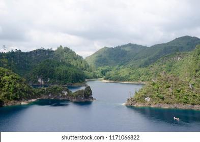 Montebello Lakes. Chiapas, Mexico.