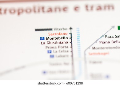 Montebello Station. Rome Metro map.