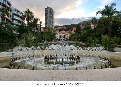 Monte-Carlo, Monaco / Monaco - 09 06 2019: Beautiful historic and ancient French Riviera buildings in Monte-Carlo Monaco, old architecture in the South of France