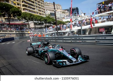 Monte-Carlo, Monaco. 27/05/2018. Grand Prix of Monaco. F1 World Championship 2018. Lewis Hamilton, Mercedes.