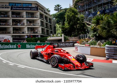 Monte-Carlo, Monaco. 27/05/2018. Grand Prix of Monaco. F1 World Championship 2018. Sebastian Vettel, Ferrari.