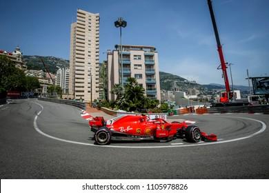 Monte-Carlo, Monaco. 27/05/2018. Grand Prix of Monaco. F1 World Championship 2018. Kimi Raikkonen, Ferrari.