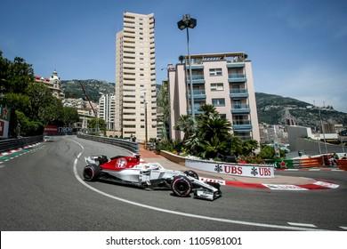 Monte-Carlo, Monaco. 27/05/2018. Grand Prix of Monaco. F1 World Championship 2018. Marcus Ericsson, Sauber Alfa Romeo,