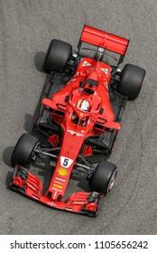 Monte-Carlo, Monaco. 27/05/2018. 70°Grand Prix of Monaco. F1 World Championship 2018. Sebastian Vettel, Ferrari.