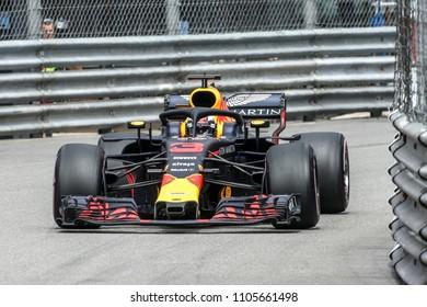Monte-Carlo, Monaco. 27/05/2018. 70°Grand Prix of Monaco. F1 World Championship 2018. Daniel Ricciardo, Red Bull.