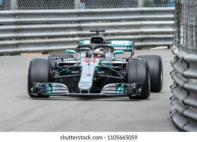 Monte-Carlo, Monaco. 27/05/2018. 70°Grand Prix of Monaco. F1 World Championship 2018. Lewis Hamilton, Mercedes.