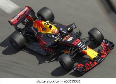 Montecarlo, Monaco. 28 May 2017. F1 Grand Prix of Monaco. Max Verstappen, driving his Red Bull car.