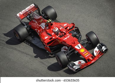 Montecarlo, Monaco. 28 May 2017. F1 Grand Prix of Monaco. Kimi Raikkonen, driving his Ferrari.