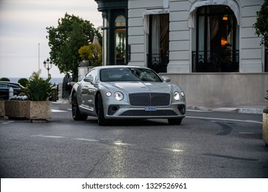 Monte-Carlo, Monaco 5 March 2019, The new Bentley Continental GT driving in city