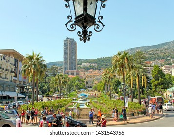 Monte-Carlo, Monaco – August 3, 2013: in the park near the opera house and casino