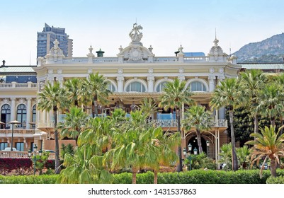 Monte-Carlo, Monaco – June 13, 2014:  tropical southern plants in the park near the opera house and casino