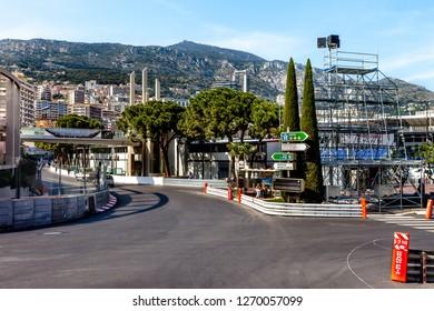 Monte-Carlo, Monaco - May 11, 2011:Part of the Formula 1 Grand Prix race track in Monaco, before the Grand Prix de Monaco on May 26, 2011.