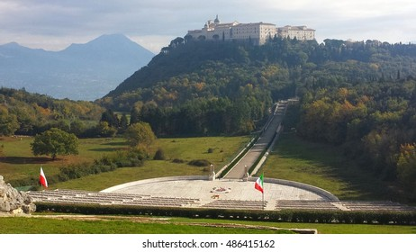 Montecassino Abbey and the Polish war cemetery