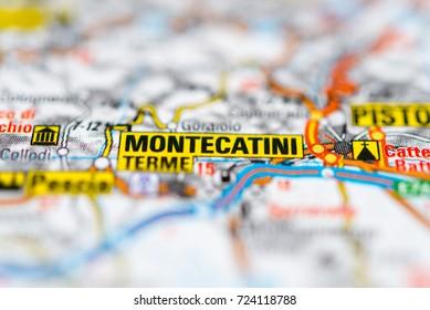 Montecatini Terme on map.