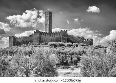 The Montecchio Castle is open to the public and was built in the ninth century and is located in Castiglione Fiorentino in the province of Arezzo in Tuscany, in 1986 was issued a stamp of the castle