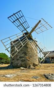 Montedor windmill in Viana do Castelo, Portugal